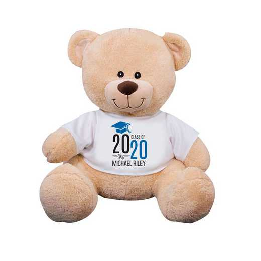"8314007B13BL: PGS Bear Grad Cap 13"" Blue"