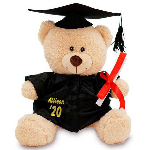 831703: PGS Graduation Cap and Gown Teddy Bear