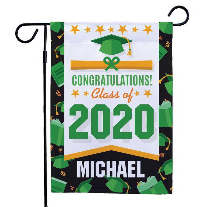 830126072GN: PGS Border Grad Garden Flag-Green