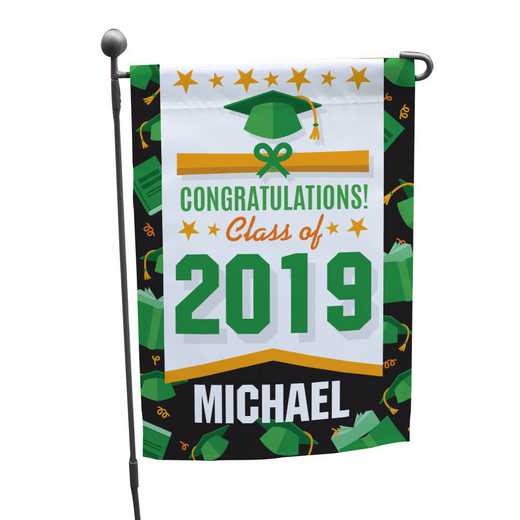 830126072GN: PGS Border Grad Garden Flag-Green