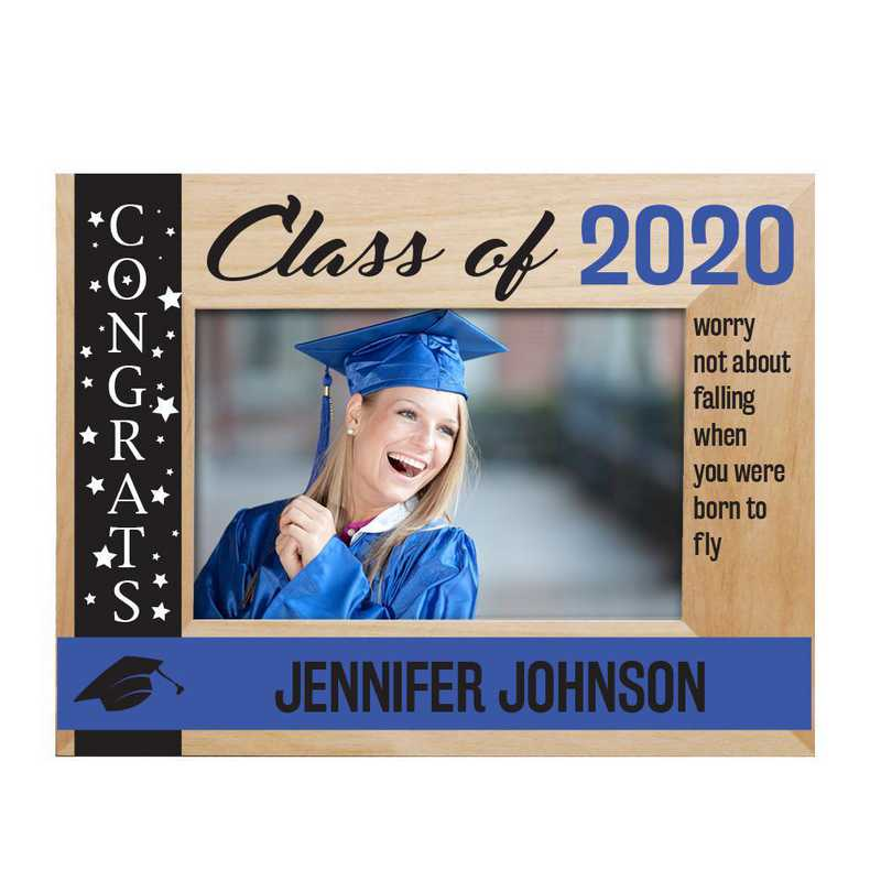 Personalized Congrats Class Of Wooden Picture Frame Royal 4x6