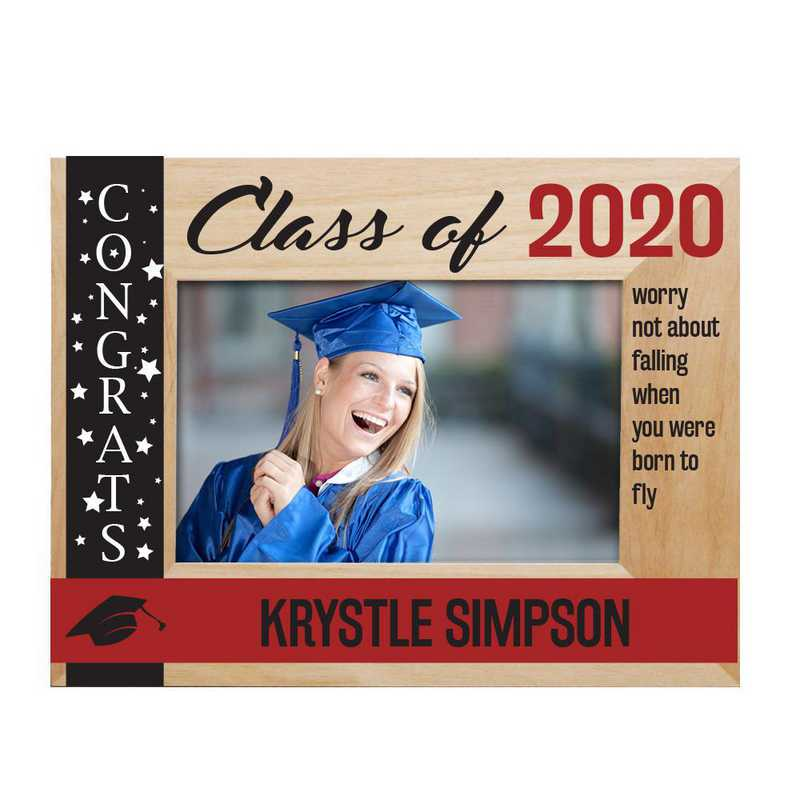 9126261RD: PGS Engraved class Of  wood Frame Red, 4x6