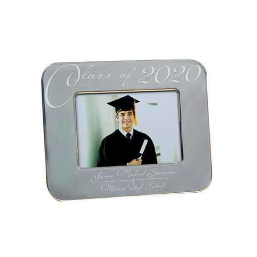 M588622: PGS Engraved Grey Class Of Grad Frame 5x7