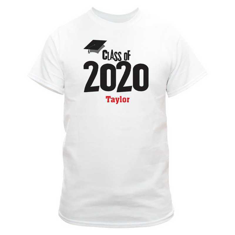 Graduation Cap Class Of Personalized Graduation T-shirt White