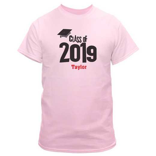 Graduation Cap Class Of Personalized Graduation T-shirt Pink