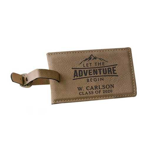 L12601120: PGS Let The Adventure Begin Leather Tag
