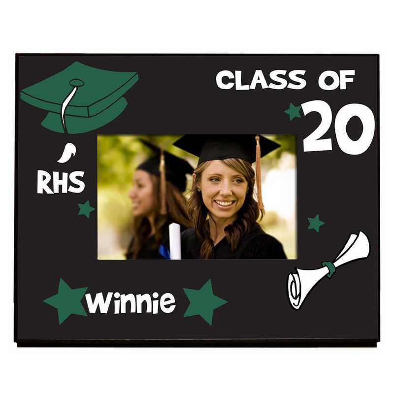 467260-darkgreen: PGS School initial Frame Dark Green 4x6