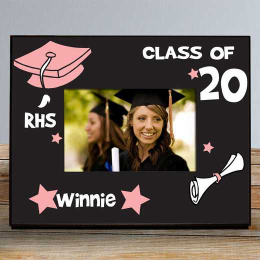 467260-pink: PGS School initial Frame Pink 4x6