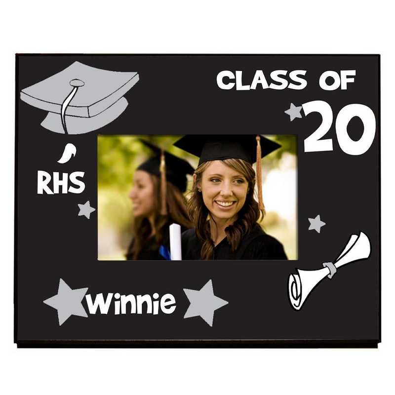 467260-silver: PGS School Initial Frame Silver 4x6