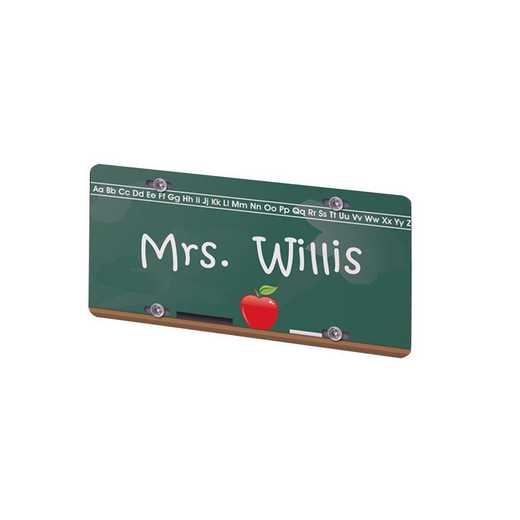 422823: PGS Chalkboard Teacher License Plate