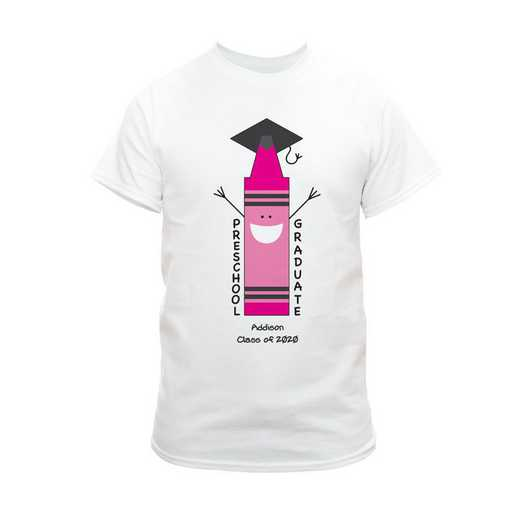Pink Graduation T-Shirt White