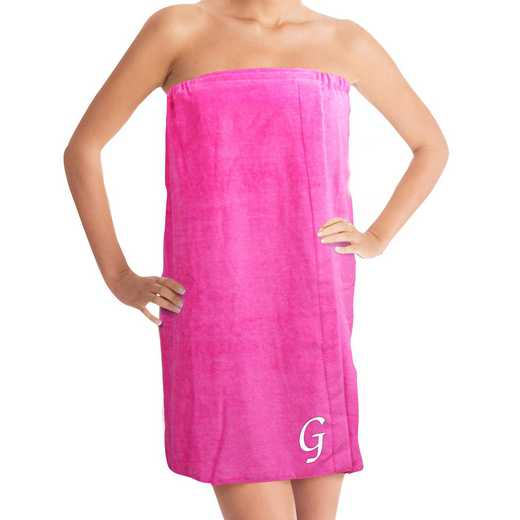 E7633129X-HPWHS: Embroidered Initial Spa Wrap Pink