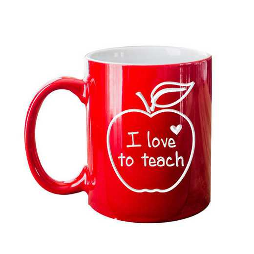 2102143: I Love Teaching Red Coffee Mug
