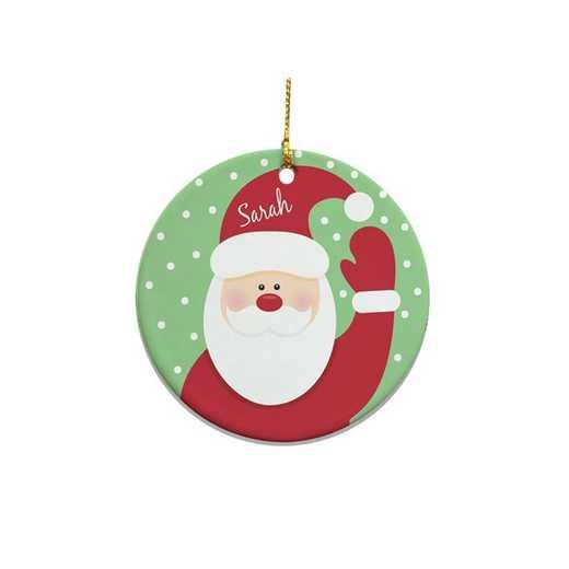 U346610: PGS Round Santa Ornament