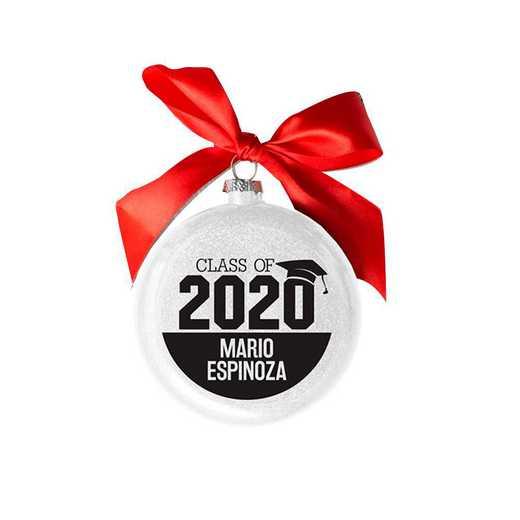 81261510MM : PGS Personalized Glass Graduation Ornament