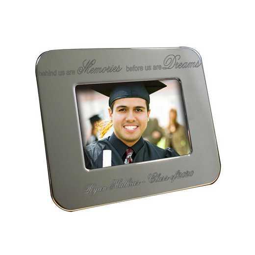 M348222: PGS Engraved Memories/Dreams Grad Silver Frame 5x7