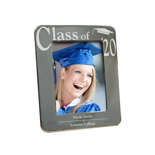M588521: PGS Engraved Silver Grad Frame 4x6
