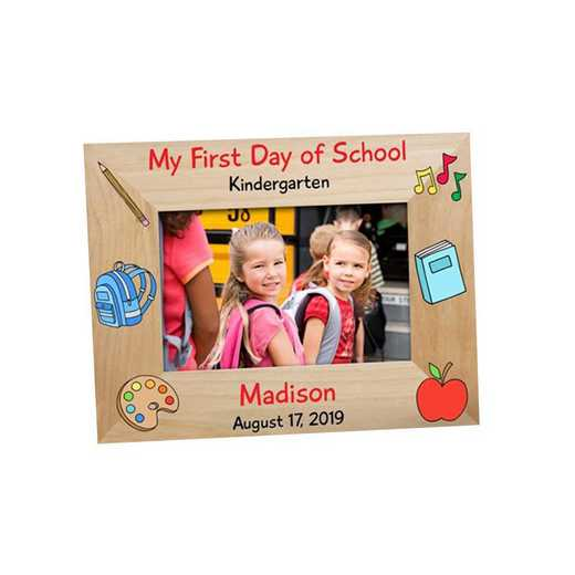 9116561: Back to School Wooden Picture Frame Alder 4 x 6