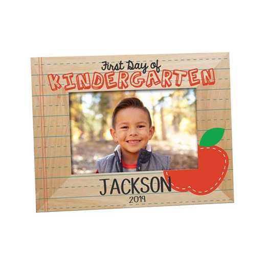 9131161: First Day of School Apple Wooden Picture Frame Alder 4 x 6