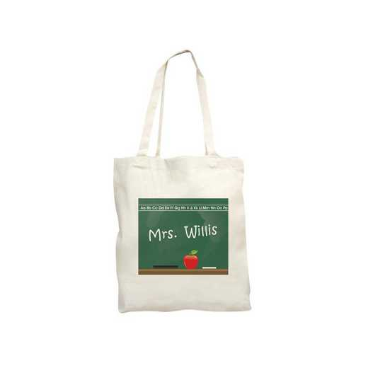 822822: Chalkboard Teacher Natural Canvas Tote Bag