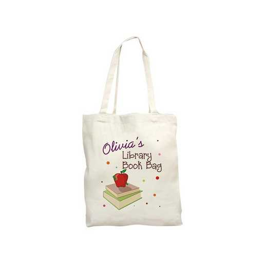 828182: Library Book Natural Canvas Tote Bag