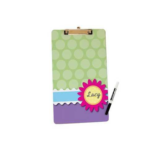 U675524LT: Flower & Polka Dots Letter Size Clipboard W/Hardware