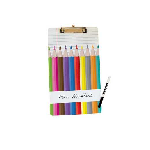 U677024LT: Colored Pencils Letter Size Clipboard w/ Hardware