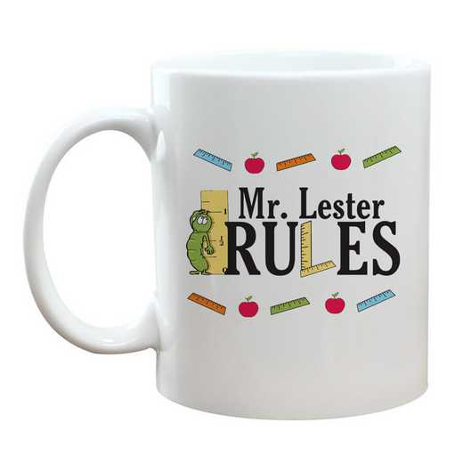 21123M: Teacher Rules Coffee Mug White 11oz