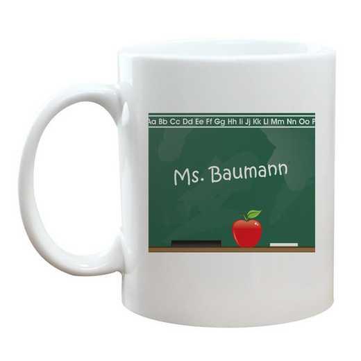 22282M: Chalkboard Teacher Coffee Mug White 11oz