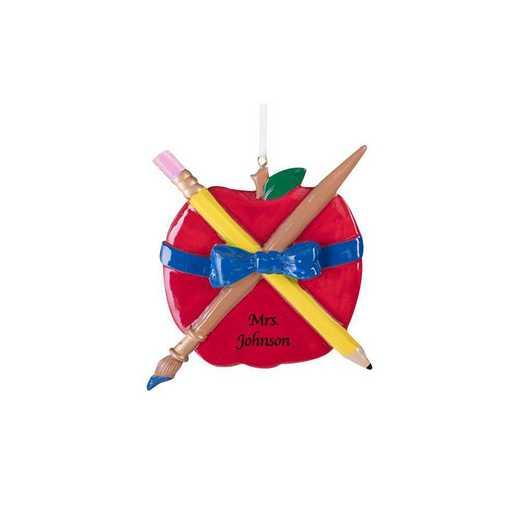 835983: PGS Teachers Apple Christmas Ornament