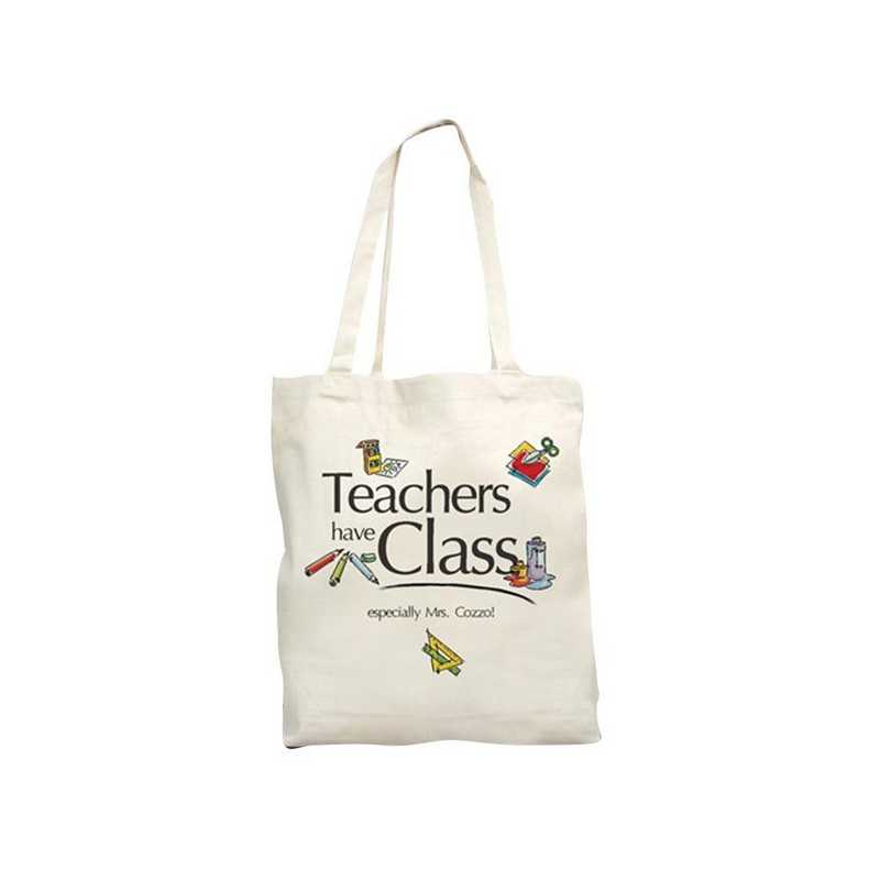 811242: Teachers Have Class Natural Canvas Tote Bag