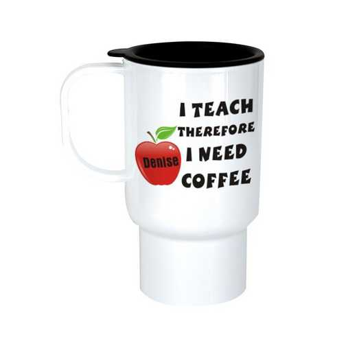 T231790: I Teach White Polymer Travel Mug