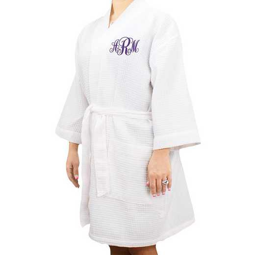 E7673128WHBPKS: Monogram Robe WHITE