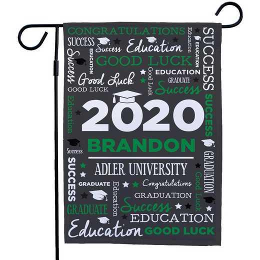 830140082-GREEN : PGS Grad Word Art Gasrden Flag Green