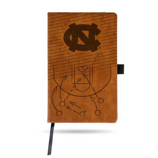 LESPD130101BR-B: NORTH CAROLINA UNIVERSITY BASKETBALL LASER ENGRAVED BROWN NOTEPAD