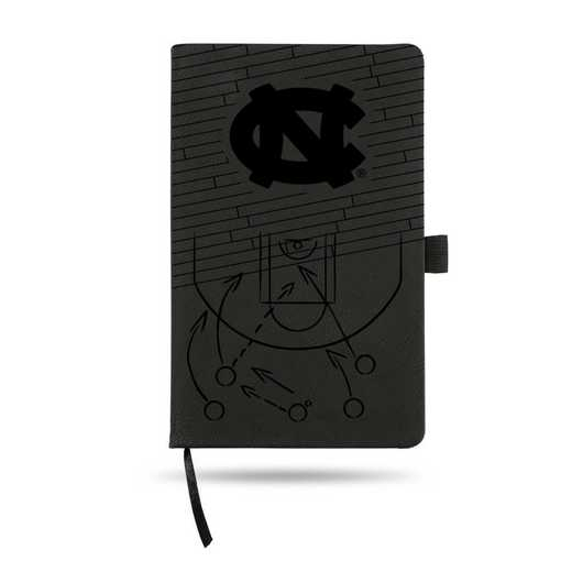 LESPD130101BK-B: NORTH CAROLINA UNIVERSITY BASKETBALL LASER ENGRAVED BLACK NOTEPAD