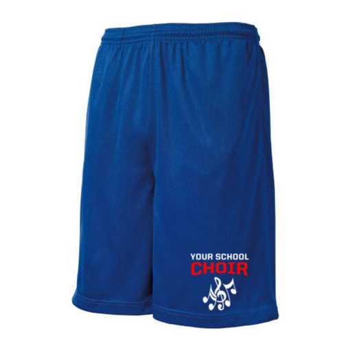 Choir Embroidered Sport-Tek 9 inch Mesh Pocket Short