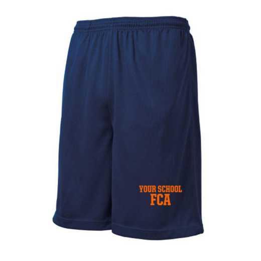 FCA Embroidered Sport-Tek 9 inch Mesh Pocket Short