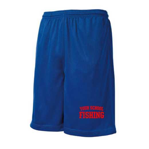 Fishing Embroidered Sport-Tek 9 inch Mesh Pocket Short
