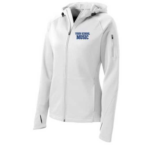 Music Sport-Tek Embroidered Womens Tech Fleece Hooded Jacket