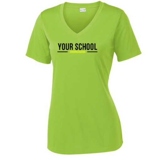 Cheerleading Sport Tek Womens V-Neck Competitor T-shirt