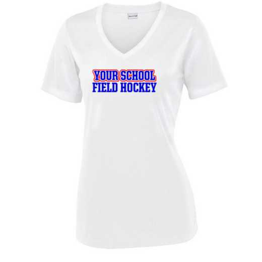 Field Hockey Sport Tek Womens V-Neck Competitor T-shirt