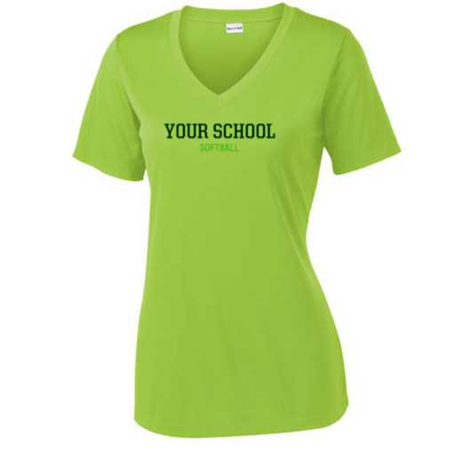 Softball Sport Tek Womens V-Neck Competitor T-shirt