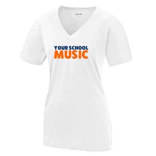 Music Womens Ultimate Performance V-Neck T-shirt