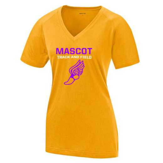 Track and Field Womens Ultimate Performance V-Neck T-shirt