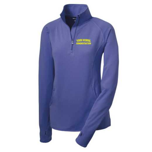 Administration Sport-Tek Embroidered Womens Half Zip Stretch Pullover