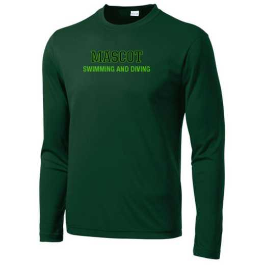 Swimming and Diving Long Sleeve Competitor T-shirt
