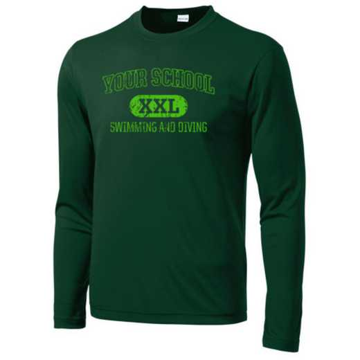 Swimming and Diving Sport-Tek Youth Long Sleeve Competitor T-shirt