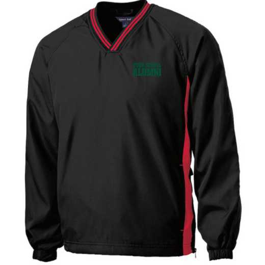 Youth Alumni Embroidered V-Neck Contrast Windbreaker