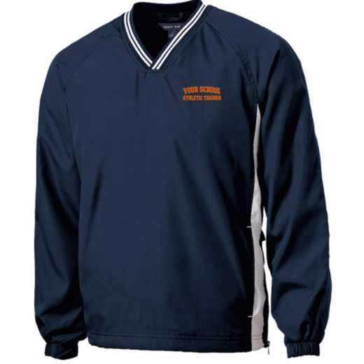 Youth Athletic Trainer Embroidered V-Neck Contrast Windbreaker